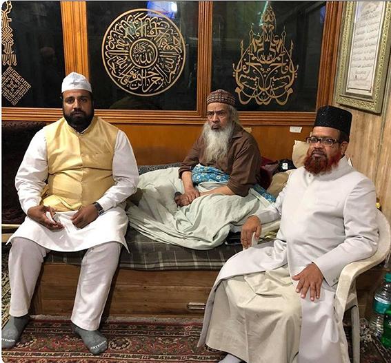 With Dewan Syed Zainul Abedin Chisty Sahib of Ajmeer Sharif Dargah